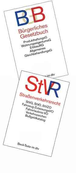 Empfehlung der Bücher BGB & StVR von Beck im dtv